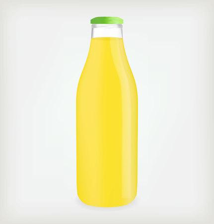juice bottle: Lemon juice bottle.