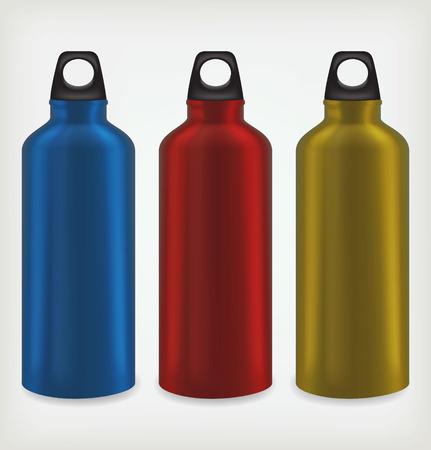 Three water bottles Vector