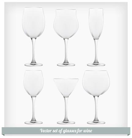 Set glass wine Vector