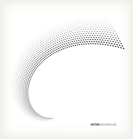 Vector halftone black dots. Vector. Template design