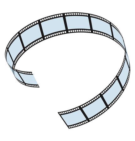 filmroll: Film strip on white background . Vector. Template design