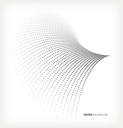 Vector halftone black dots. Vector. Template design