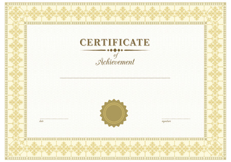 Elegant vector certificate for business