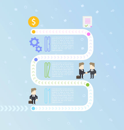 vecotr: Business process infographics and reusable icon. Vecotr Illustration