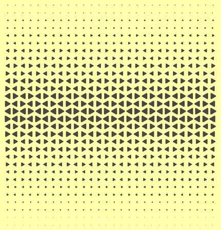 halftone dots: Vector triangles color halftone dots abstract background