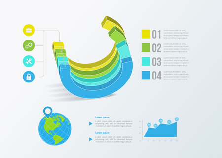 Solid business graph. Vector infographics. Template design Vector