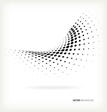 Vector halftone dots abstract background Çizim