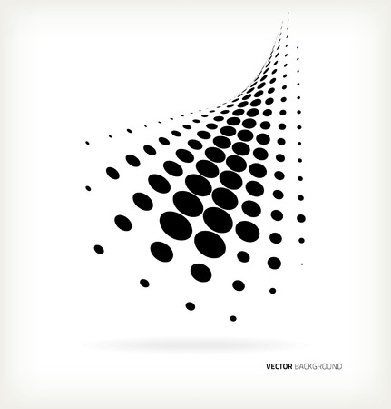 Vector halftone dots abstract background Vectores