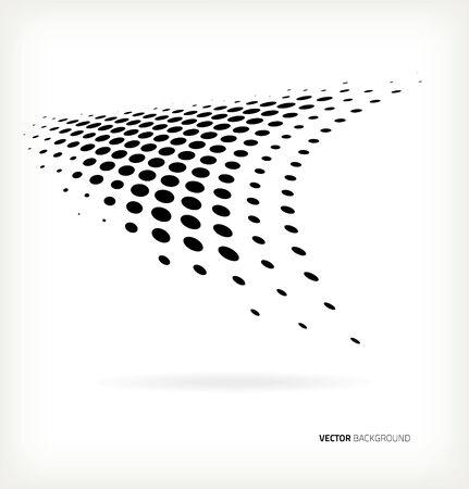 Vector halftone dots abstract background Ilustração
