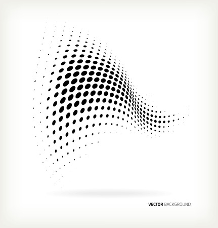 halftone dots: Vector halftone dots abstract background Illustration