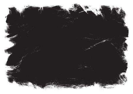 Grunge zwart frame. vector sjabloon Stock Illustratie