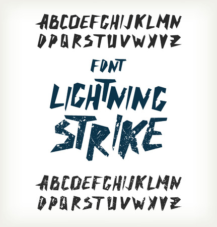 expressive style: Hand drawn letters.