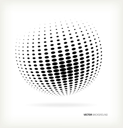 World halftone on white background Vectores