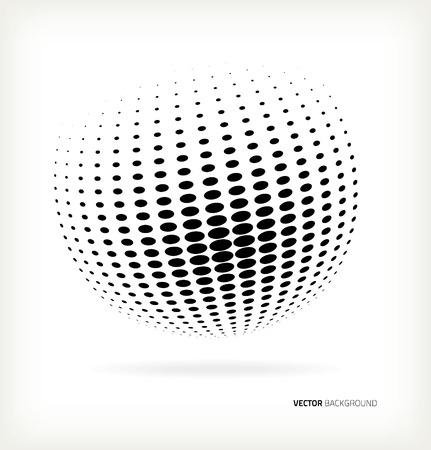 World halftone on white background Çizim