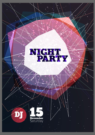 dj: Night party Vector