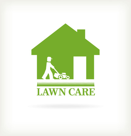 service: Lawn care symbol Illustration