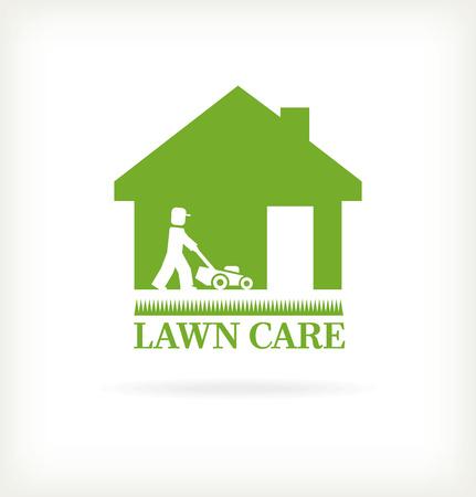Lawn care symbol Illustration