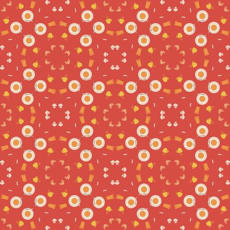 paraphernalia: Abstract pattern of coffee paraphernalia