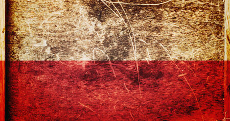 poland flag: Grunge Poland Flag as background or texture