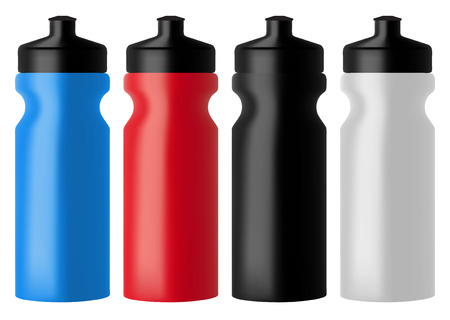 Set realistic sports water bottles