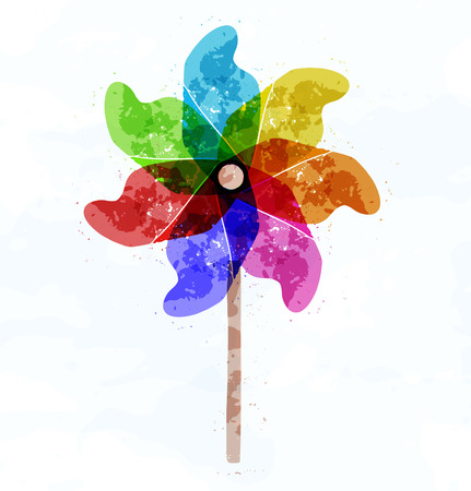 wind wheel: Pinwheel concept illustration