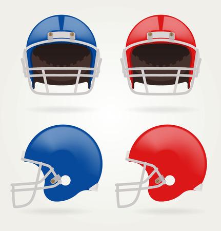 football helmets: Vector American football. Set Football Helmets Illustration