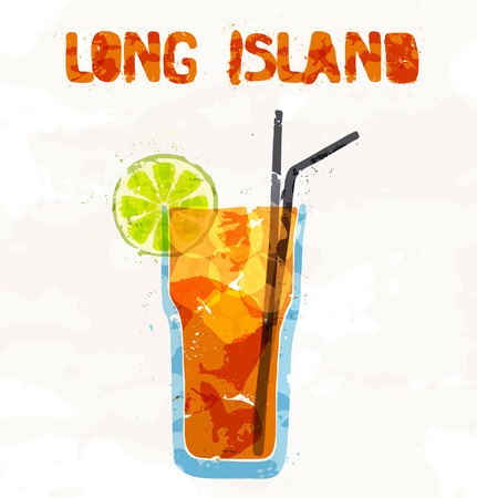 ink in water: Long island ice tea coctail