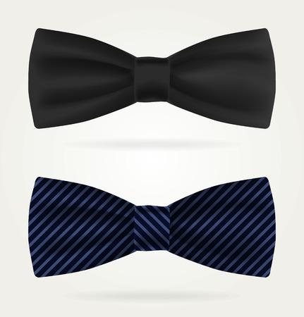 Dark tie on a white background. Illustration