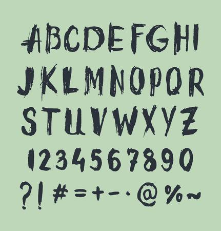 scratch: Grunge scratch type font, vintage typography