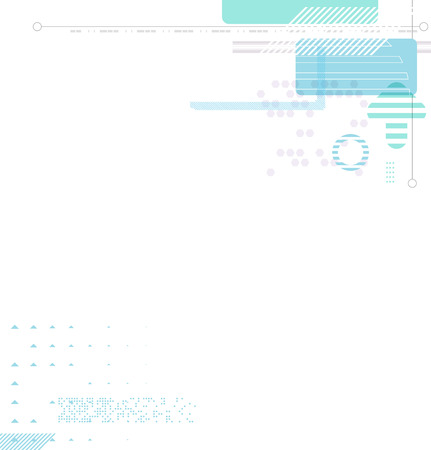 schedule system: Abstract futuristic business background. Illustration