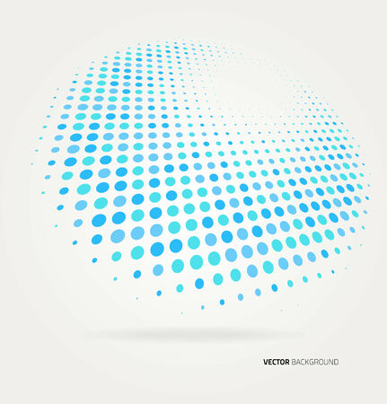 Vector halftone dots abstract background. Design template Çizim