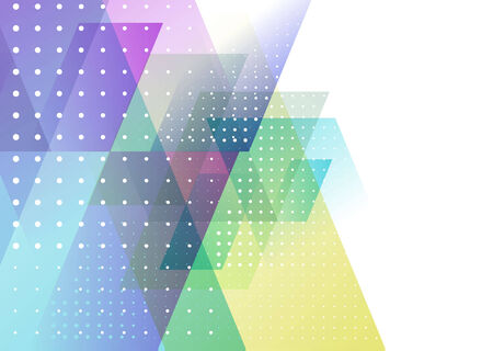 halftone background: Abstract Triangle Brochure Flyer design vector