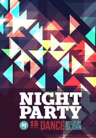 music background: Night party Vector