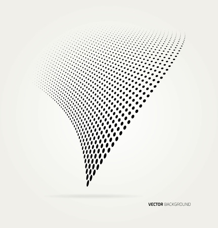 abstract design elements: Vector halftone dots.