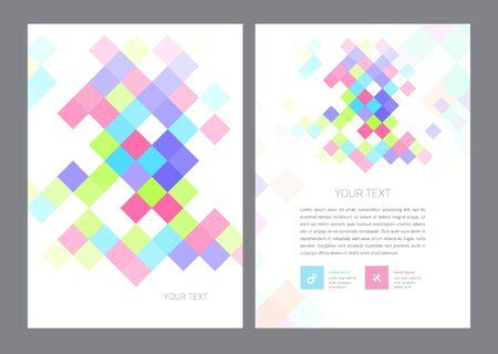 digital book: Vector Brochure Flyer design Layout template in A4 size Illustration