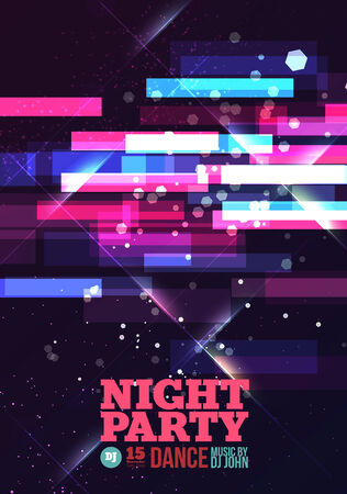 Night party Vector Flyer Template. Template design