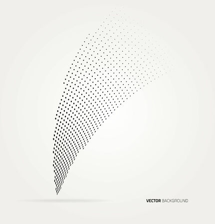 Vector halftone dots abstract background. Design template Vector