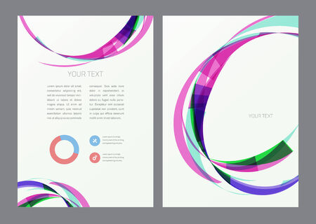 digital book: Abstract modern bright multicolored flyer.