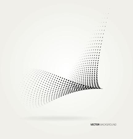 halftone dots. Illustration
