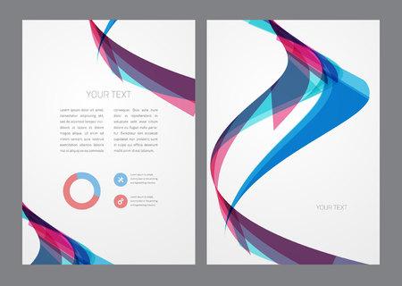 curvas: Folleto multicolor abstracto moderno y luminoso. Vectores