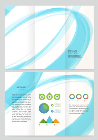 office background: Abstract wave Vector Brochure Template. Illustration