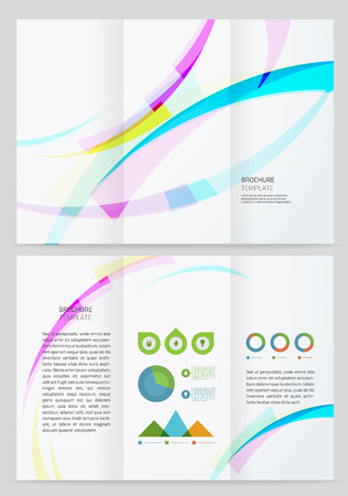 Abstract wave Vector Brochure Template. Vectores