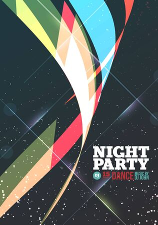 the night: Night party Vector