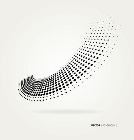 Vector halftone dots. Banco de Imagens - 37263529