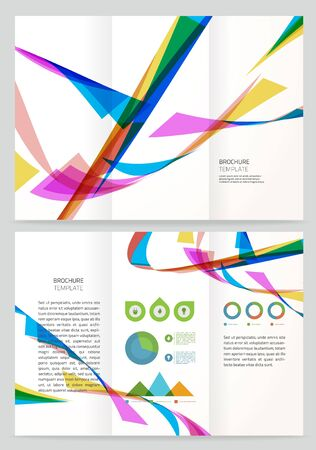 wave vector: Abstract wave Vector Brochure Template. Illustration