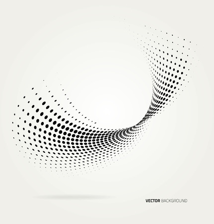 waves pattern: Vector halftone dots.