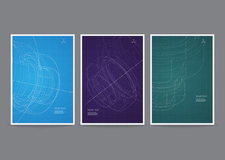 portadas de libros: Tecnolog�a Vector tarjeta publicitaria Vectores