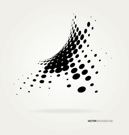 Vector de los puntos a media tinta. Foto de archivo - 38390751