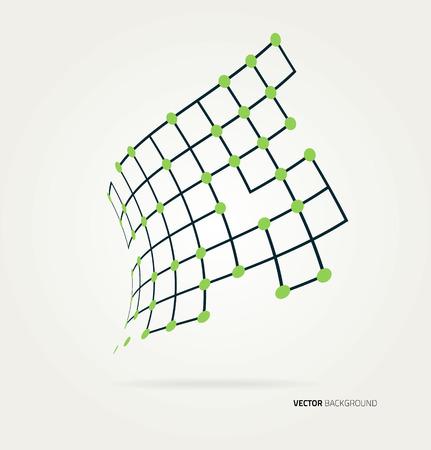 konturen: Abstraktes Bild der Kurvenkonturen