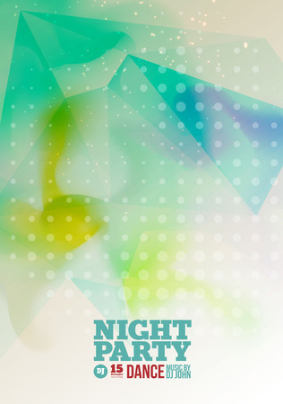 flyer party: Night party Vector Flyer Template.